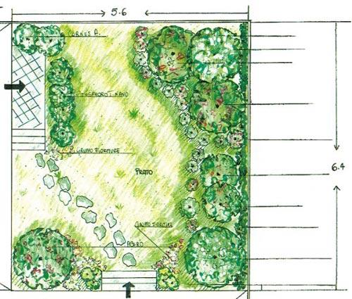 Progettazione spazi verdi ingegnoli - Progetti piccoli giardini privati ...